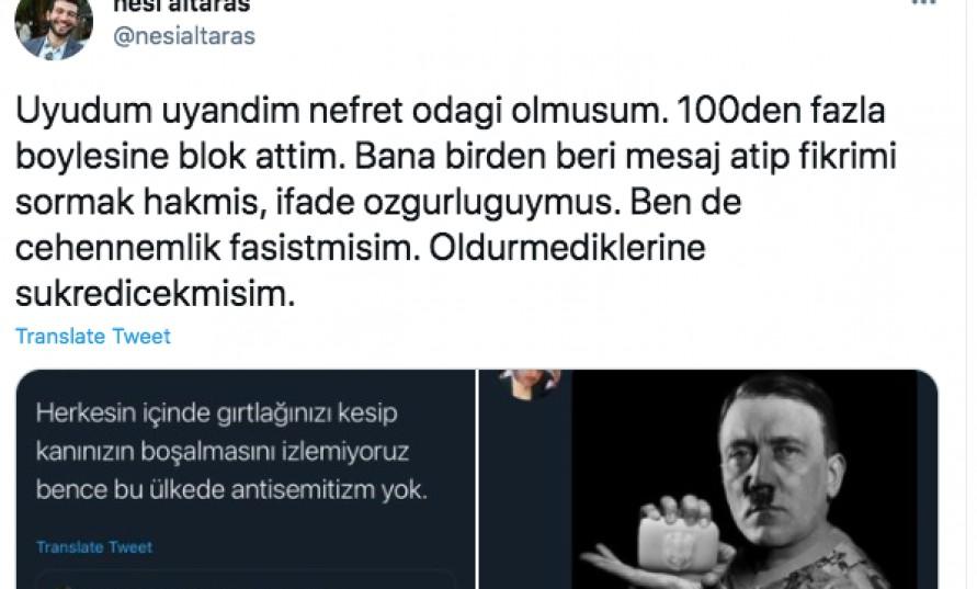 Avlaremoz editörü sosyal medyada antisemit saldırganlığa maruz kaldı