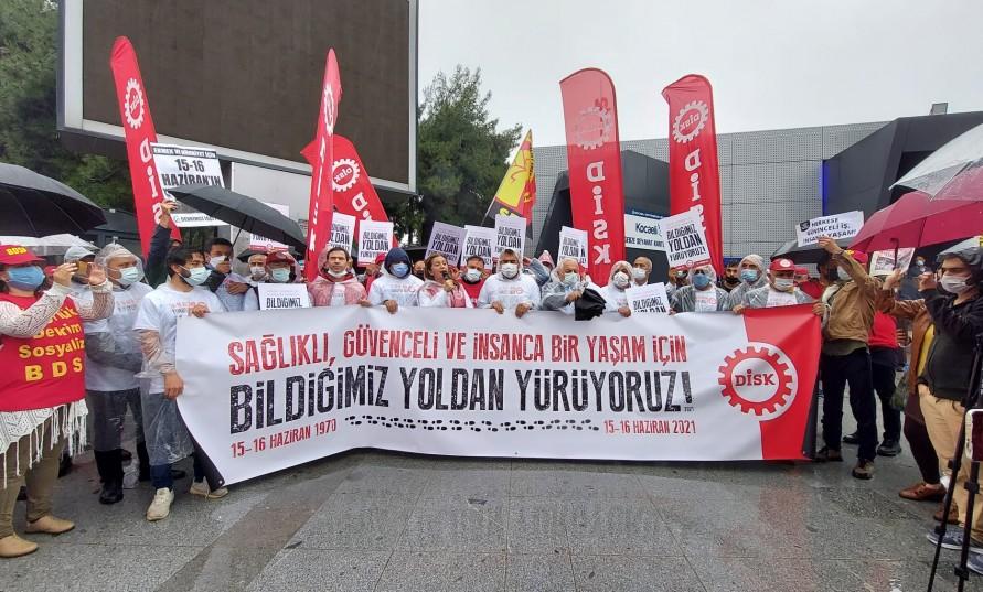DİSK'ten Gebze'de eylem: 15-16 Haziran geçmiş değil yol gösterici