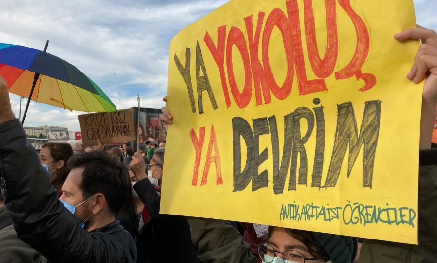 İklim eylemleri Kadıköy'de ve Gazhane'de yapıldı