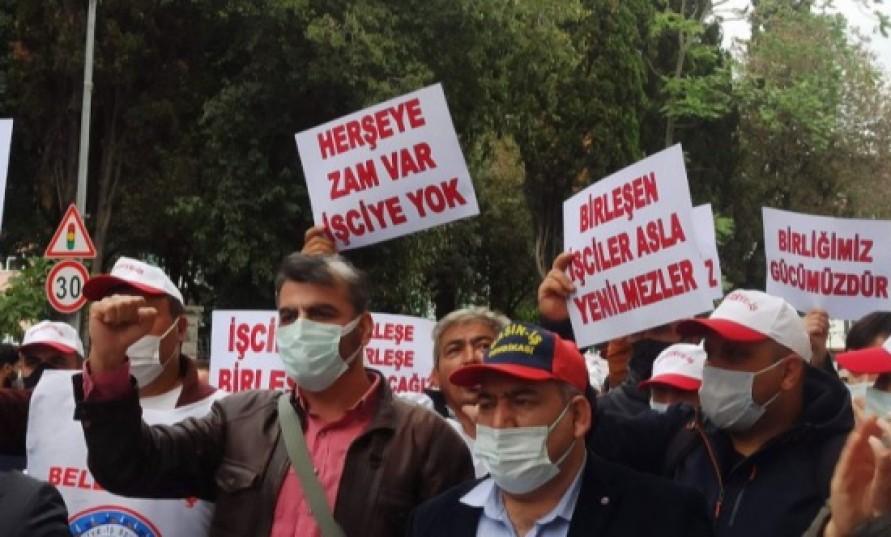 Bakırköy Belediyesi işçileri grevde: 'Herşeye zam var işçiye yok!'
